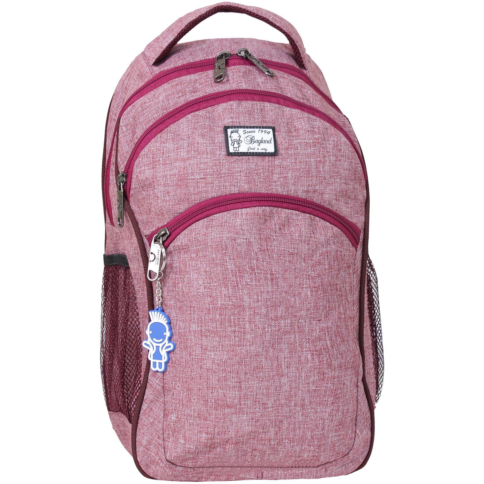 Городские рюкзаки Рюкзак Bagland Лик Меланж 19 л. Бордовый (0055769) IMG_8924-1600.jpg