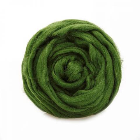 Шерсть для валяния Полутонкая (Троицкая) 3664 светло-зеленый