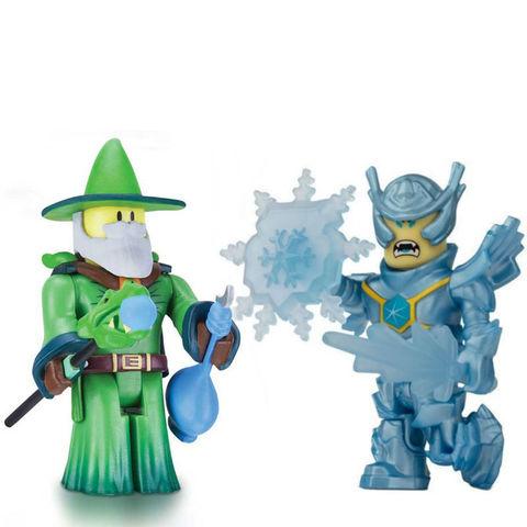 Набор фигурок Роблокс Мастер Изумрудного Дракона и Морозный Генерал - Roblox Emerald Dragon Master and Frost Guard General, Jazwares
