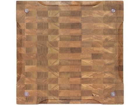 деревянная  Торцевая разделочная доска 40x40x4 см. дуб