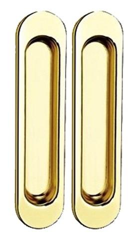Фурнитура - Ручка Дверная для раздвижных дверей TIXX SDH 501, цвет латунь блестящая  (гарантия - 12 месяцев)