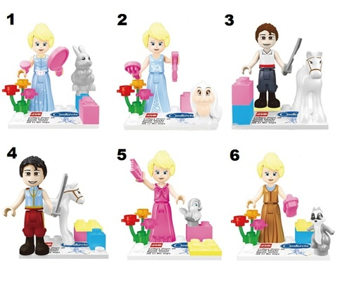 Minifigures Cinderella Blocks Building