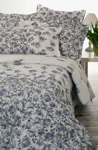 Постельное белье 2 спальное евро Mirabello Ombre di Rose голубое