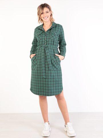 Евромама. Платье-рубашка для беременных и кормящих, изумруд