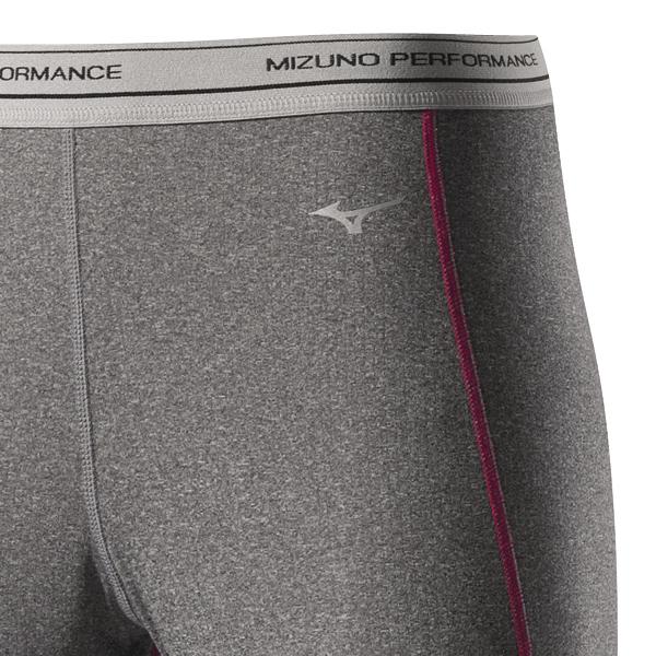 Термокальсоны Mizuno WooL Long Tight женские grey zoom