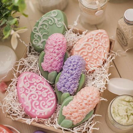 Мыло Яйцо с орнаментом, готовая работа