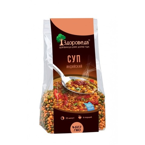 Здороведа суп индийский «Масурдал» с машем и красной чечевицей 250 г