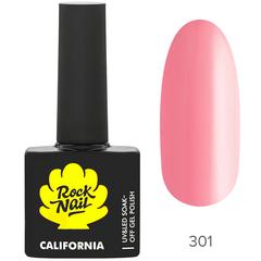 Гель-лак RockNail California 301 Pink Salt, 10мл.