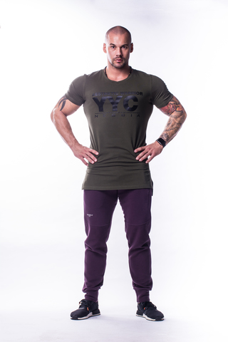 Мужская футболка Nebbia Athletic Logo T-Shirt 730 khaki