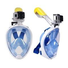 Маска для плавания EasyBreath на все лицо с креплением для Go Pro