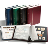 Кляссер для марок COMFORT A4, 32 ЧЕРНЫХ страницы, без шубера, синий