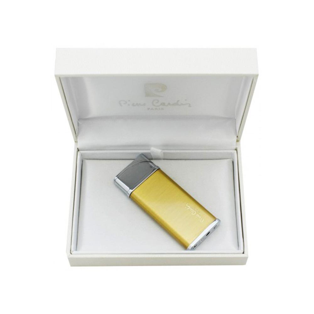 Зажигалка Pierre Cardin газовая турбо, цвет позолота, матовая, 2,8х0,8х7см