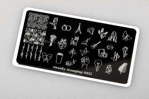 Пластина Swanky Stamping 035