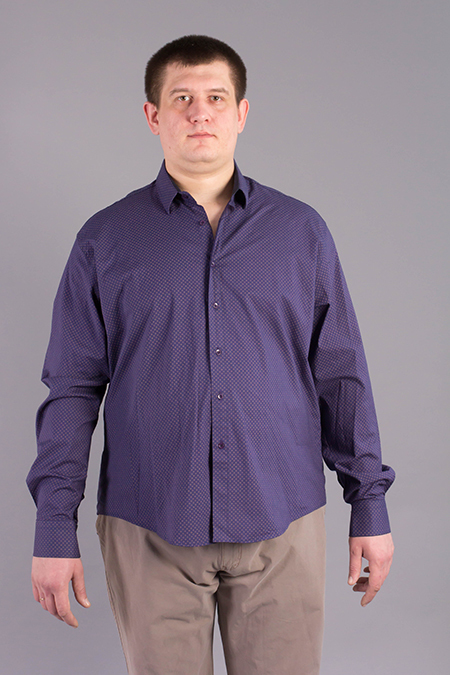 Лекала мужской рубашки без карманов