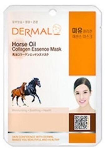 Dermal Маска д/лица ткан. лошадиное масло и коллаген - увлажнение Horse Oil Collagen, 23 гр
