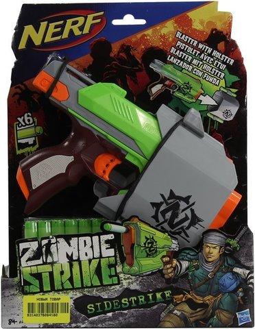Hasbro: Nerf Зомби Сайд Страйк A6557  — Nerf Zombie Strike Sidestrike — Нерф Нёрф Хасбро