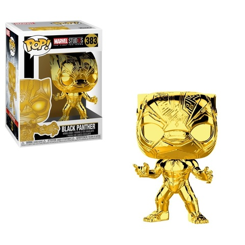 Фигурка Funko POP! Bobble: Marvel: MS 10: Black Panther (Chrome) 33520
