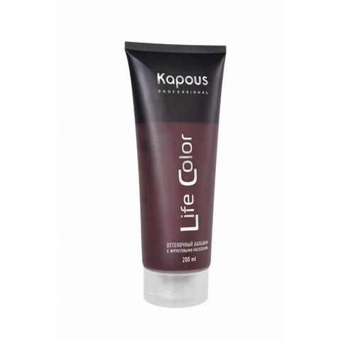 Бальзам оттеночный для волос Коричневый,Kapous Life Color ,200 мл