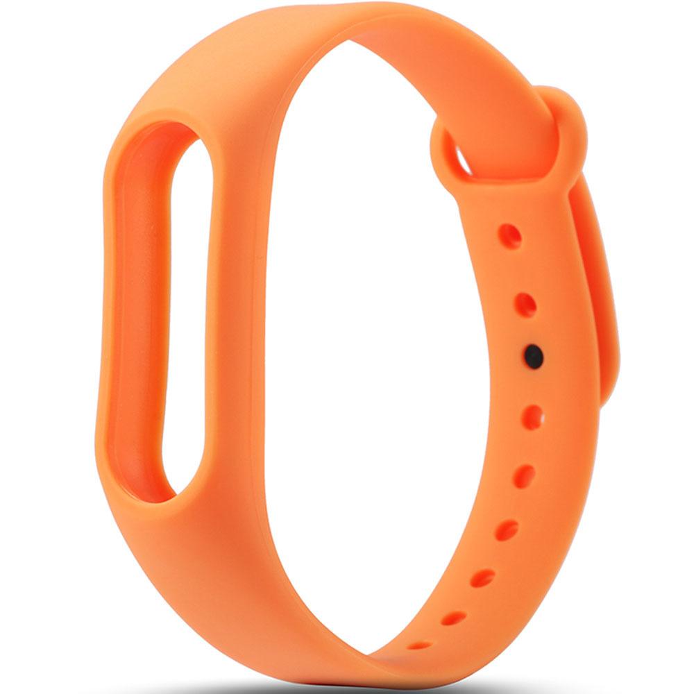 Оранжевый вариант цвета сменного цветного браслета на Smart Mi Band 2