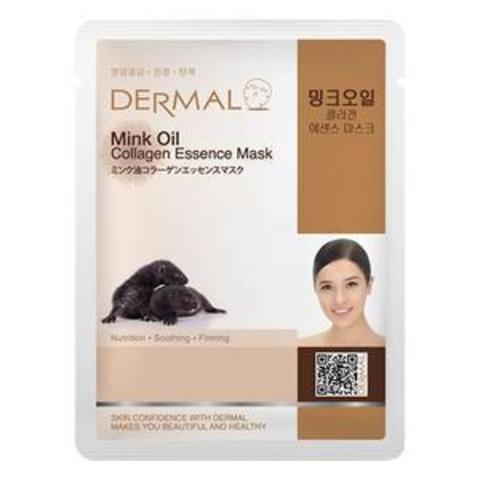 Dermal Маска д/лица ткан. масло норки и коллаген Collagen Essence Mask Mink Oil, 23 гр