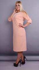 Вивиан. Оригинальное платье больших размеров. Персик.