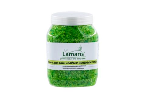 """Соль для ванн """"Лайм и зеленый чай"""""""