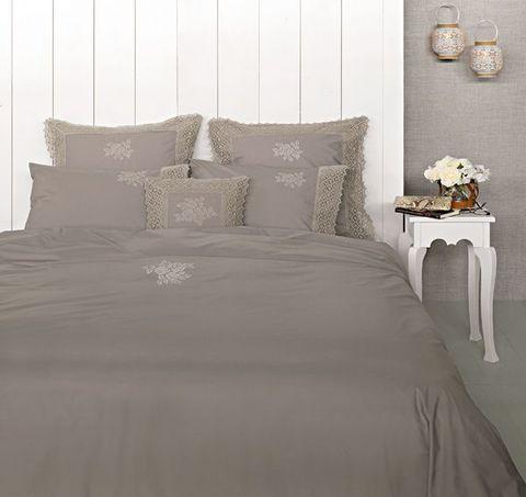 Постельное белье 2 спальное евро Luxberry Rose молочный шоколад
