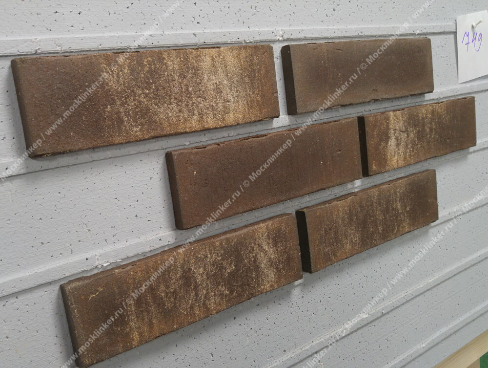 Плитка для фасада и внутренней отделки Feldhaus Klinker, VASCU, R749NF14, поверхность Wasserstrich, geo rotado