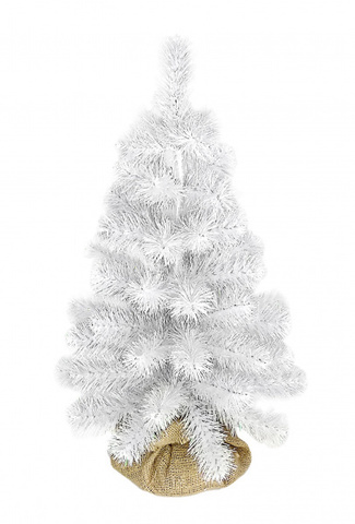 Сосна Beatrees White Crystal 50 см. в мешочке белая