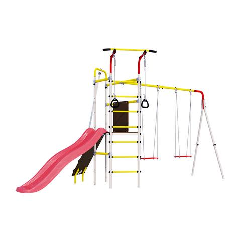 Детский спортивный комплекс для дачи ROMANA Островок Плюс (Фанерные качели)