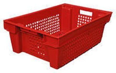 Ящик вкладываемый  КРАСНЫЙ       (600х400х200), перфорированный