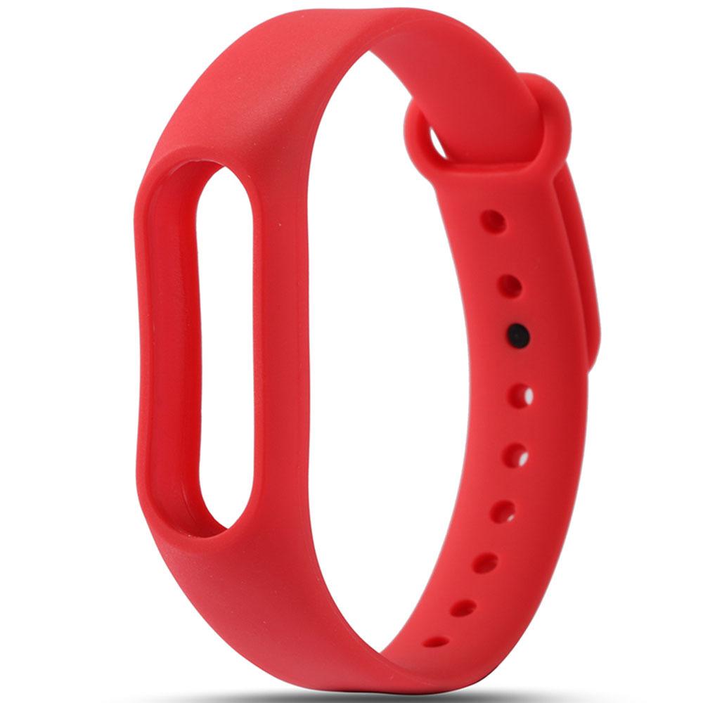 Красный вариант цвета сменного цветного браслета на Smart Mi Band 2