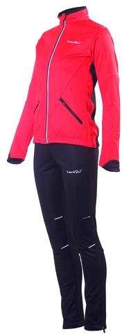 Женский утеплённый лыжный костюм Nordski Premium Red-black