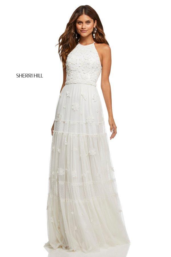 Sherri Hill 52687 Кружевное платье длины миди