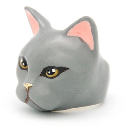 Кольцо Кошка Плюм