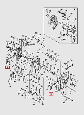 Ручка зажима струбцины для лодочного мотора T40 Sea-PRO (18-3/8)