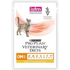 Влажный корм для кошек, Purina Pro Plan Veterinary Diets FELINE OM, при ожирении, с курицей