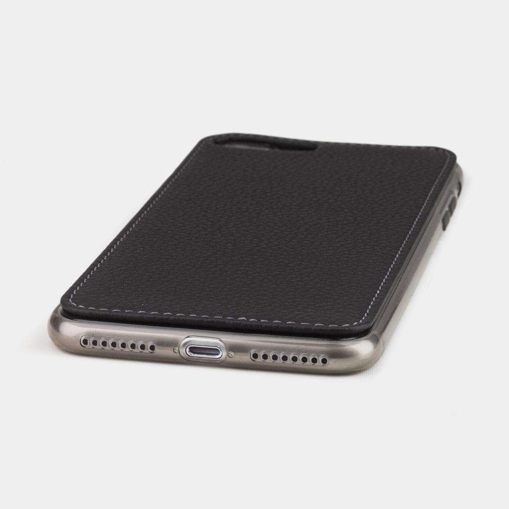 Чехол-накладка для iPhone 8 Plus из натуральной кожи теленка, цвета черный мат