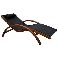 Лежак c деревянным каркасом Malta Black