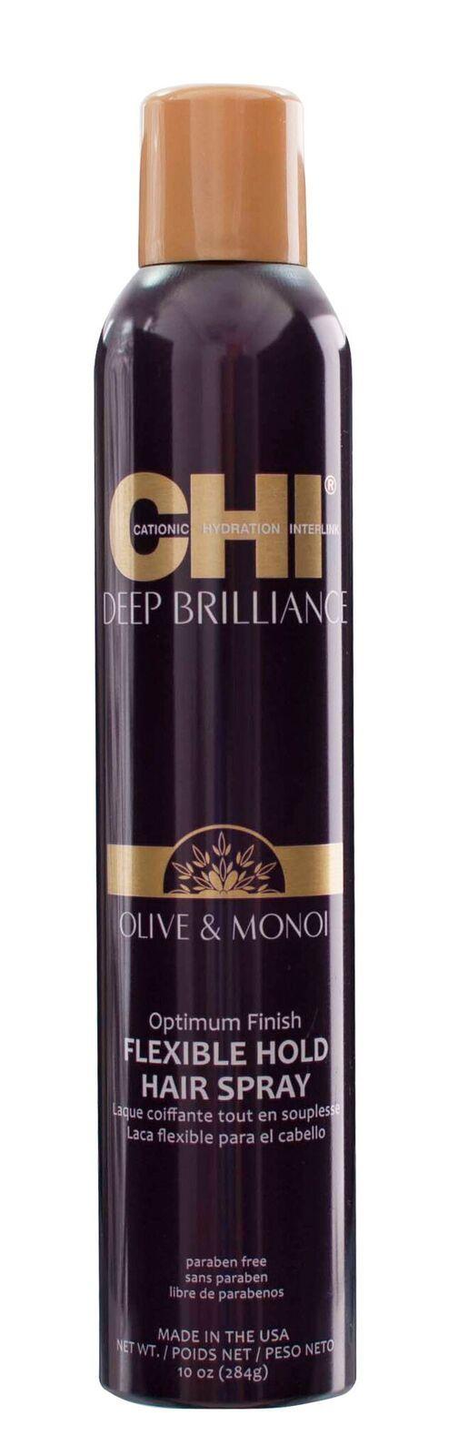 Лак для Волос CHI Deep Brilliance Эластичной Фиксации Оптимальный Результат, 284 г