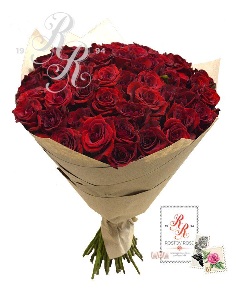 Букет 51 местная красная роза