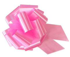 Бант-шар однотонный 30х110 (розовый)