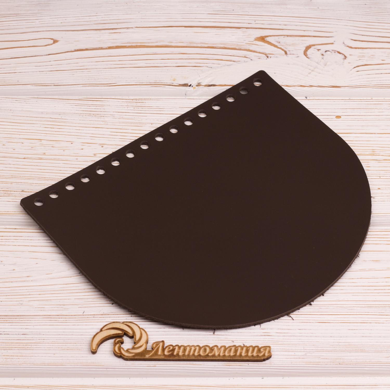 """Вся фурнитура Клапан для сумочки кожаный """"Темно-коричневый"""" 19*16 см IMG_4390.JPG"""