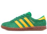 Кроссовки Женские Adidas Hamburg Suede Green Yellow