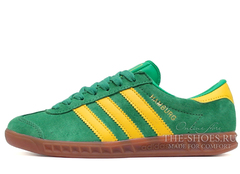 Кроссовки Женские Adidas Hamburg Suede Green Yellow