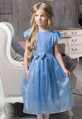 Pelican GDT3003/1 Платье для девочек нарядное из велюра