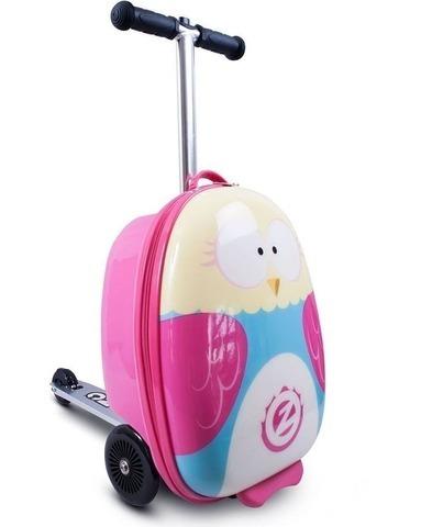 Чемодан - самокат для девочек Сова Zinc Flyte Owl