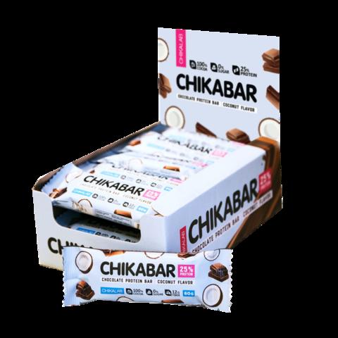Протеиновый батончик Chikalab Кокос с шоколадной начинкой, 60 гр
