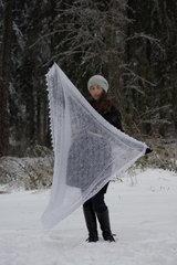 Оренбургский пуховый платок 69 фото 3