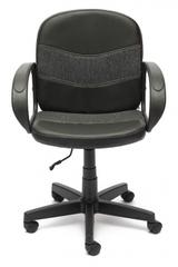 Кресло компьютерное Багги (Baggi) — черный/серый (36-6/207)